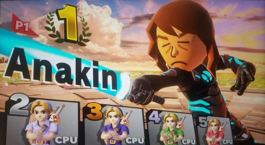 Anakin vs young links
