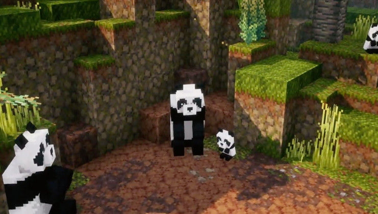 Minecraft Dungeons Jungle Awakens panda's