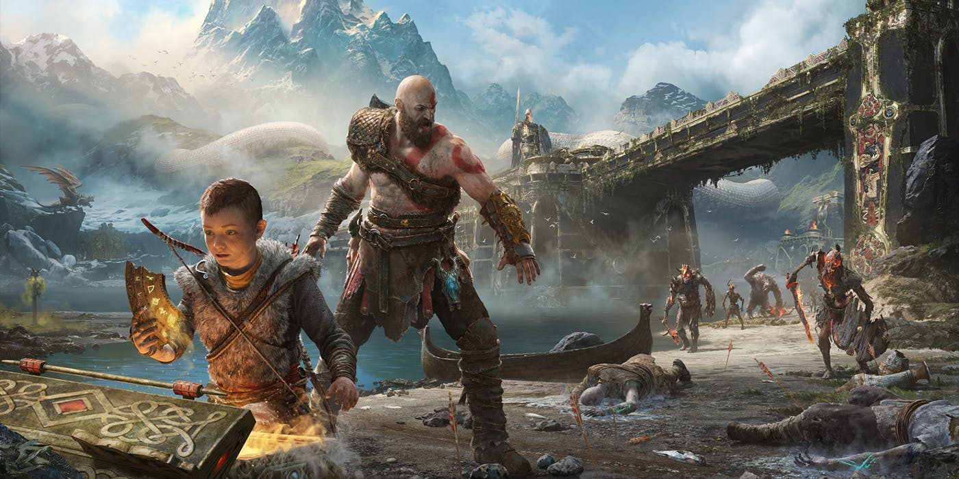 God of War Kratos & Atreus
