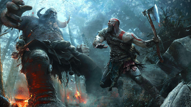 God of War Kratos battle