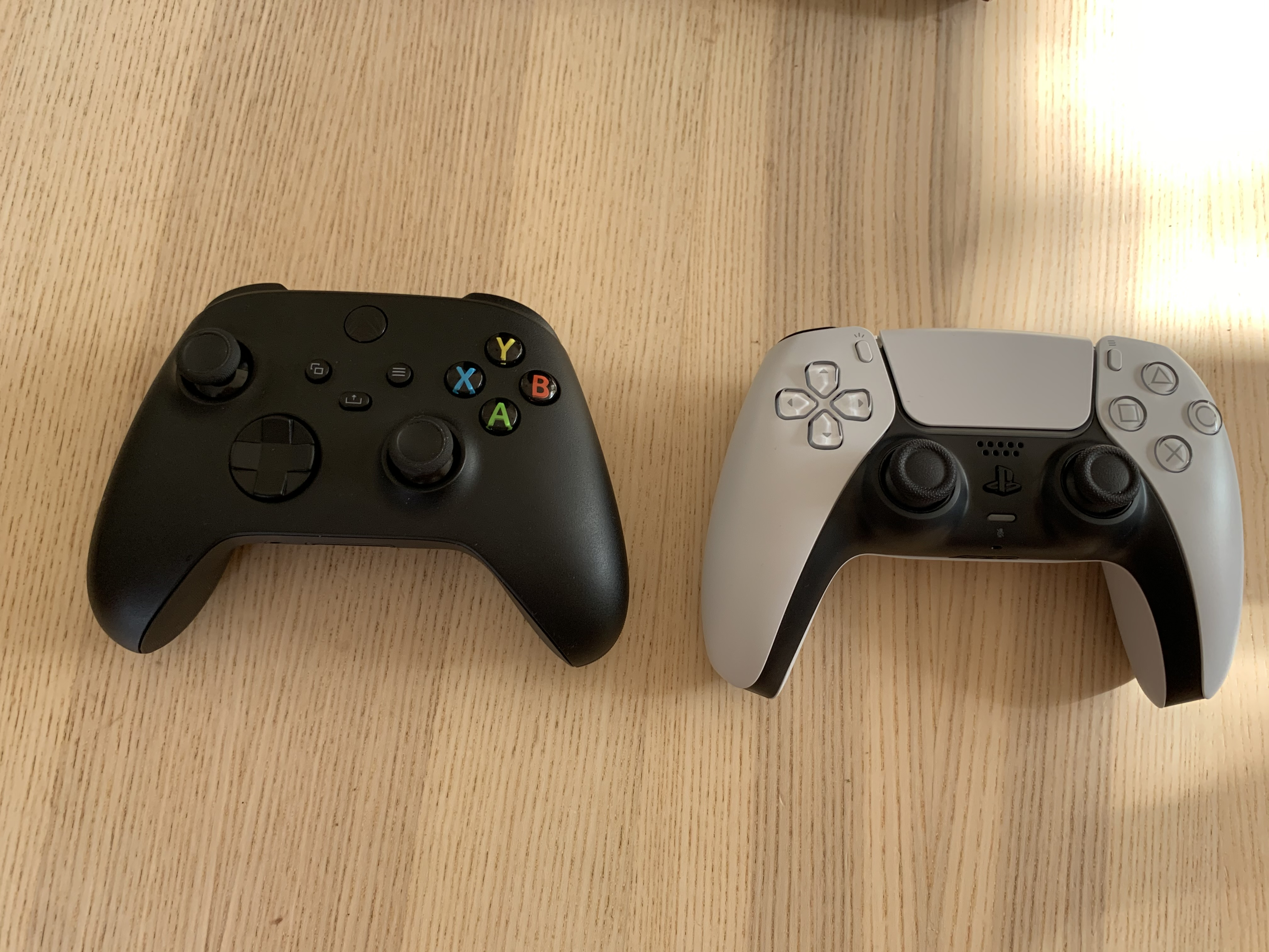 Xbox Series X vs. PlayStation 5 controller
